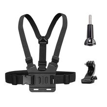 Chest Mount Harness Strap for Gopro Hero 6 5 4 3 3+ Session Black PC+ aluminum alloy Thumb Screw +J-Hook- Fully Adjustable Str waterproof case w individual aluminum alloy strap lens ring for gopro hero 3 3 black ring