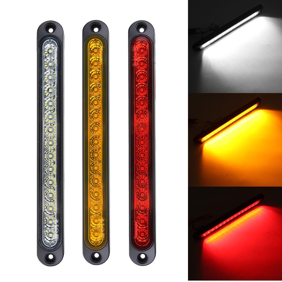 2x Red 15 LED Stop Tail Light Ultra-Slim Blinker Light for Trailer RV Truck UTE
