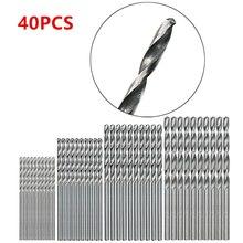 40 шт. 0,5 мм-2,0 мм HSS мини-сверла набор прямой хвостовик PCB пластик
