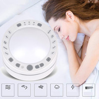 White Noise Sleep Instrument 10 Natural Sound Sleep Therapy Machine Improve Sleep Quality Home Office Travel Physiotherapy