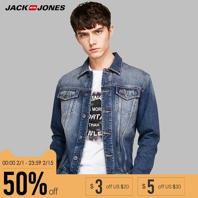 timeless design 5eba9 8596b Jack Jones Cotton Fashion Turn-Down Collar Vintage Short Denim Jacket Men  |218157514