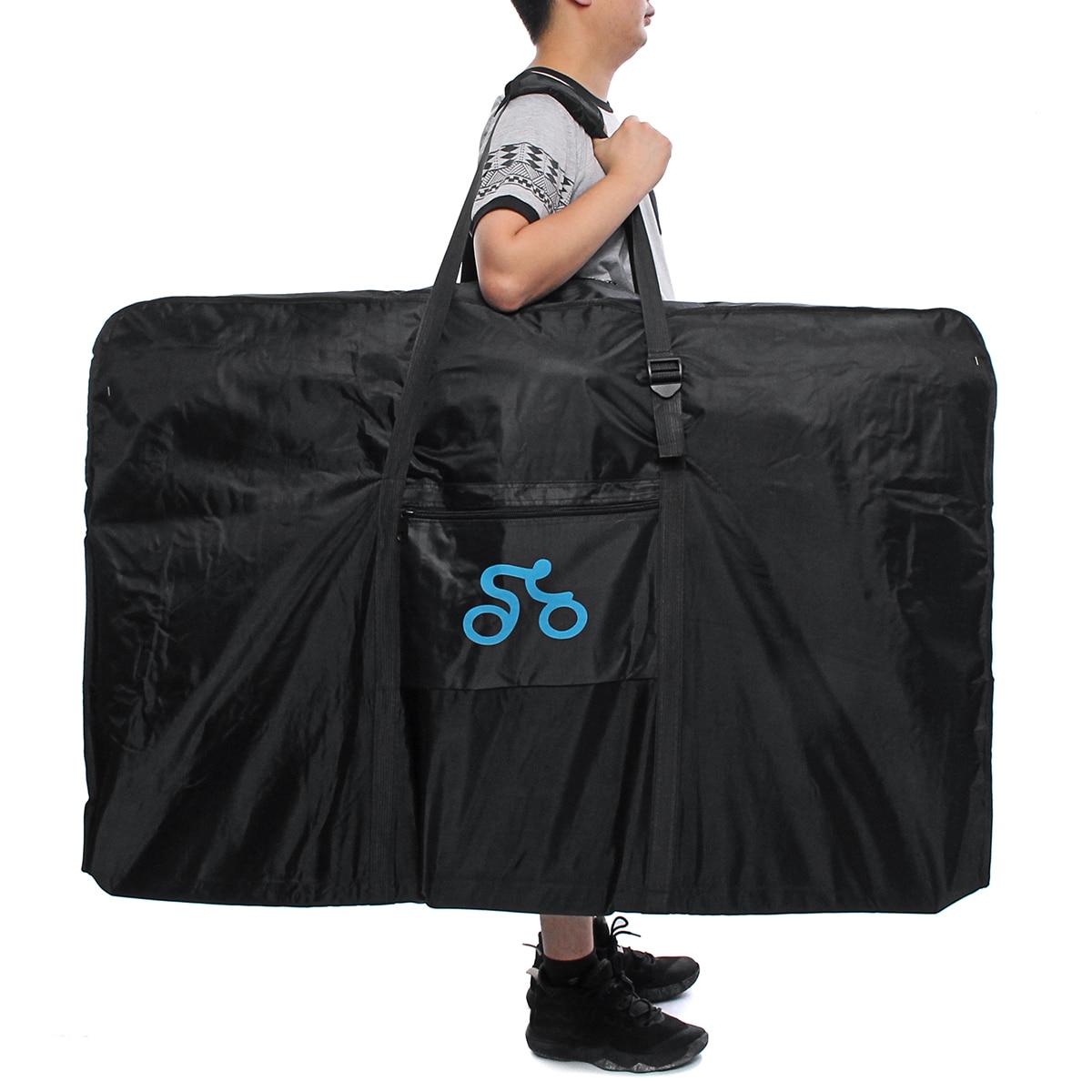 Nueva bolsa de transporte de bicicleta portátil de nailon 1680D para bicicleta de 26 29 pulgadas funda de transporte de bicicleta de viaje accesorios al aire libre deporte-in Maletas y bolsas de bicicleta from Deportes y entretenimiento on AliExpress - 11.11_Double 11_Singles' Day 1