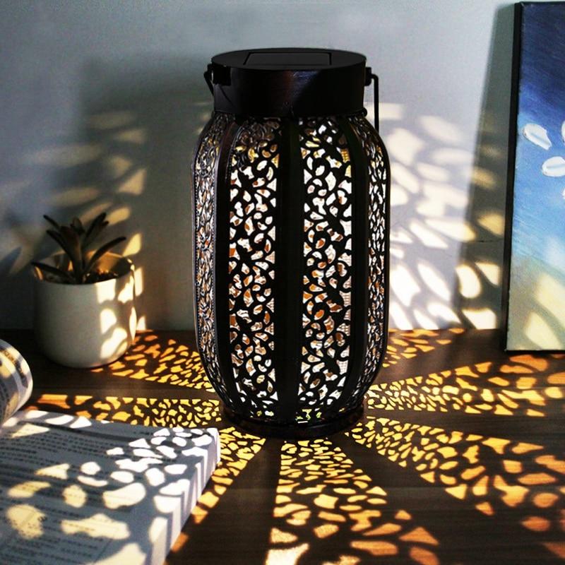 Outdoor Waterproof Solar Lantern Hanging Solar Flame ...