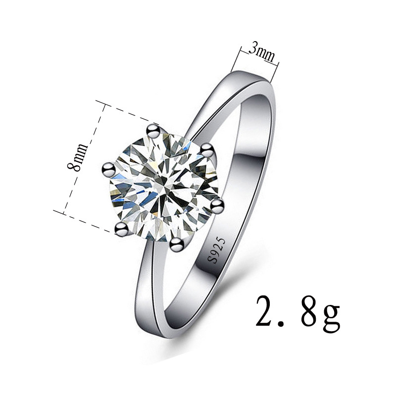 Beautiful Unique Silver Zircon Wedding Bride 1PC Valentines Gift Couples Wedding Rings Jewelry Cubic Zirconia Ring Women in Wedding Bands from Jewelry Accessories