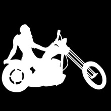 Hot Body Sexy Girl Motorcycle Beauty Art Car Sticker for Camper Van SUV Laptop Kayak Styling  Decal Jdm