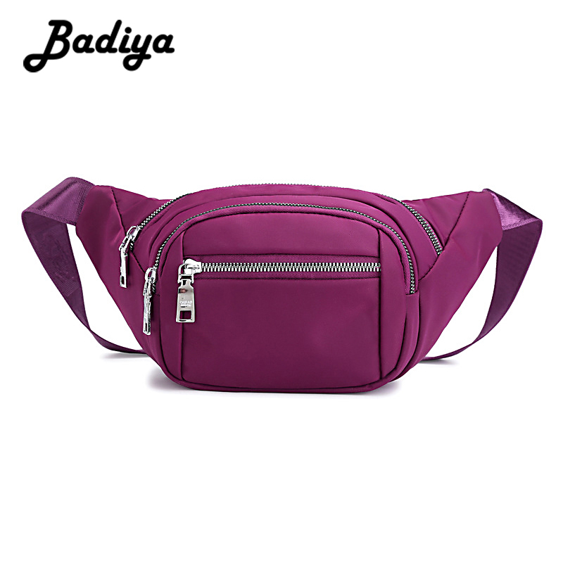 New Design Nylon Waist Bag For Lady Causal Women Fanny Pack Waterproof Travel Shoulder Bag Phone Female Belt Bags Zipper Handbag