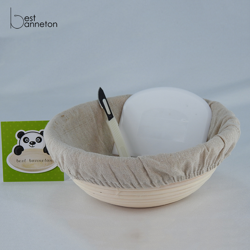 Best banneton 9 Inch Banneton Proofing Basket Set for Professional and Home Bakers Bowl Scraper and lam Brotform Cloth Liner