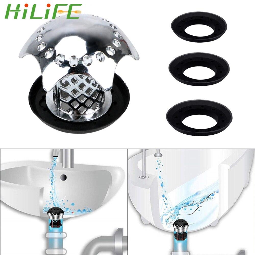 Hilife impede o cabelo de entupimento do filtro de pia gadgets pia do chuveiro dreno capa banho plug chuveiro dreno cabelo catcher