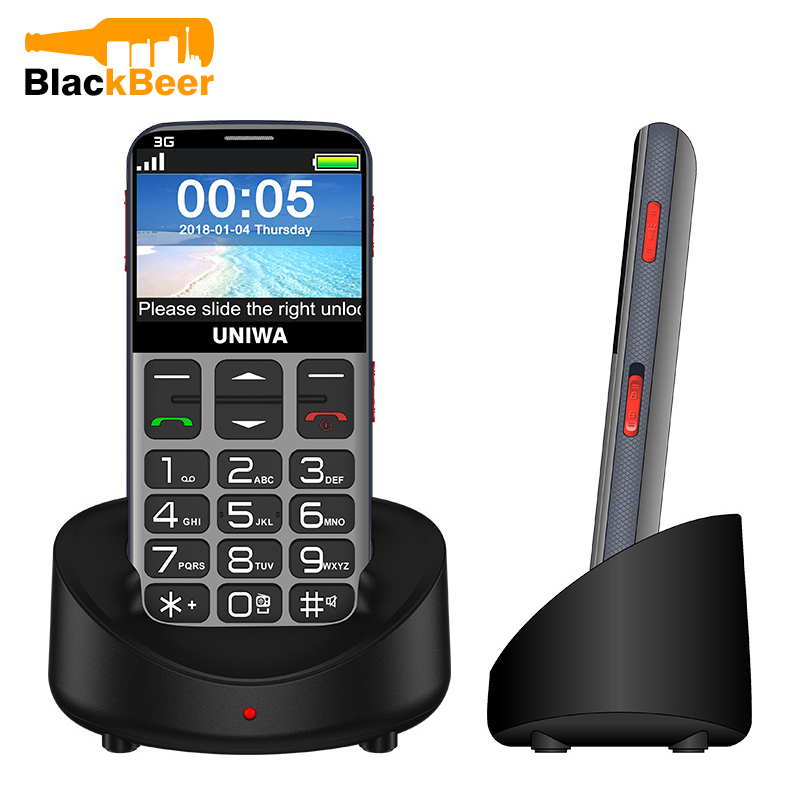 UNIWA V808G 2 31 Inch Mobile Phone 3G WCAMA Cellphone for Senior Old Man SOS 1400mAh