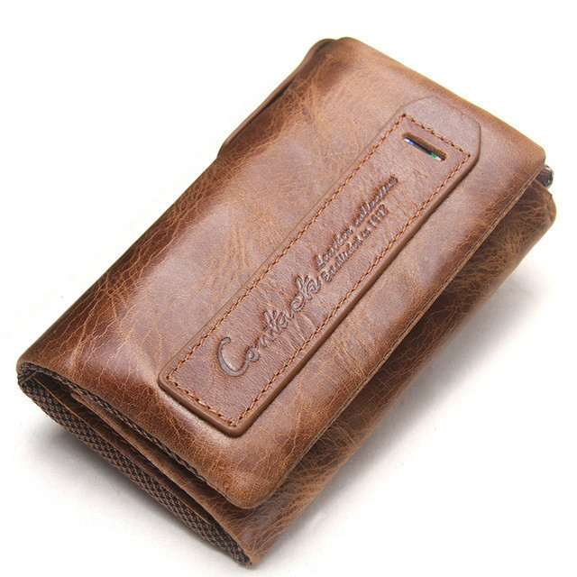 Men's Wallet Genuine Leather Car Key Ring Pouch Keys Coin Purse Case Key Holder Wall Wallet Keychain Bag Small Portfolio Dossier