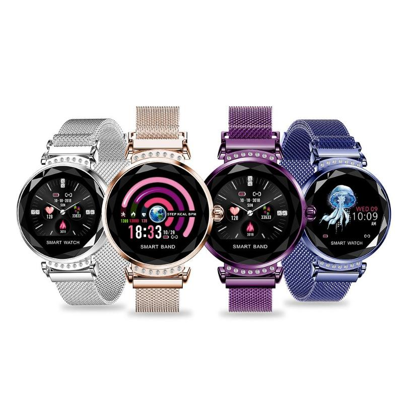 Smart watch Waterproof Women Smartwatch Heart Rate Monitor Fitness Tracker Sports ladies Wristwatch For android IOS