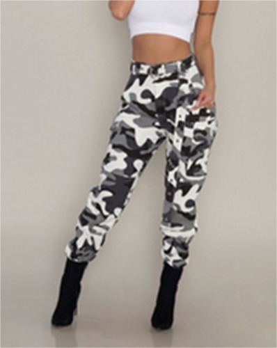 aca0f077cf16e US Jeans Women Camo Cargo Trousers Casual Pants Military Army Combat  Camouflage