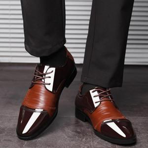 Image 2 - Mode Oxford Business Mannen Schoenen Lente Herfst Lederen Hoge Kwaliteit Zacht Toevallige Ademende Mannen Flats Zip Schoenen