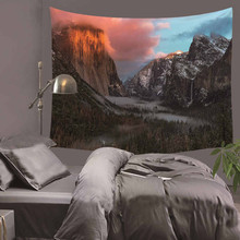 цены Wall Hanging Tapestry Wall Decoration Beautiful Scenery Style Polyester Fiber Tapestry Tree Night Scene Printed Tapestry Tapiz