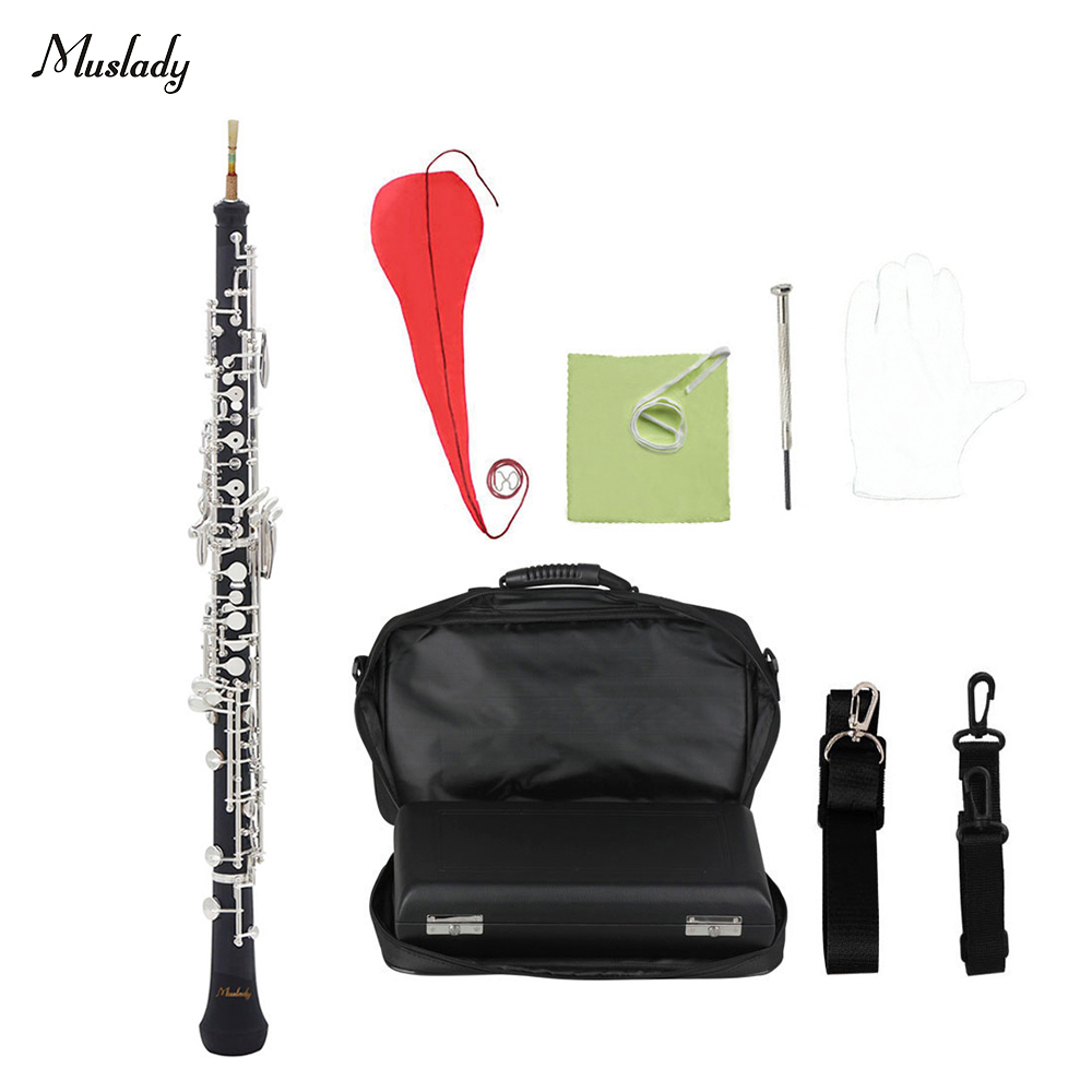 Honest Muslady Professional C Key Oboe Semi-automatic Style Silver Plated Keys Woodwind Instrument With Oboe Reed Gloves Strong Resistance To Heat And Hard Wearing