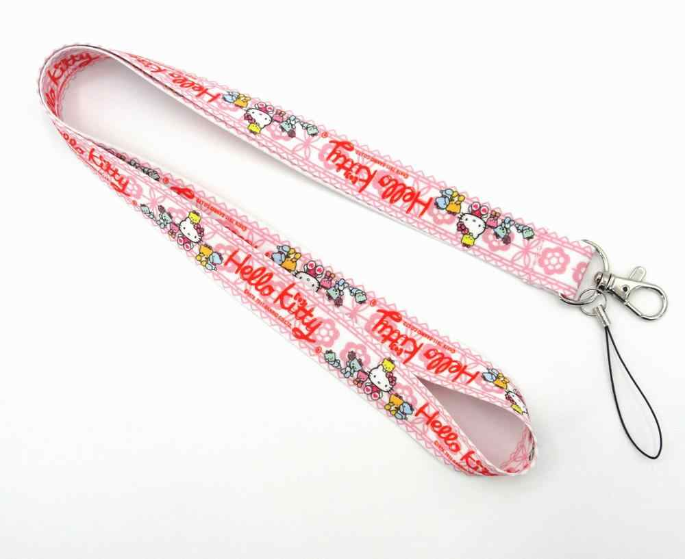 4a62ea2f1 ... 1 PCS Hello Kitty Cat Lanyard id badge holder keychain straps for mobile  phone Free Shipping ...