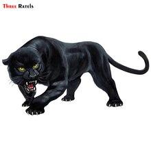 Three Ratels TRL570# 15X8 سنتيمتر الحيوان ملصقا أسود Cheeta الهدر الملونة مضحك ملصقات السيارات و الشارات السيارات التصميم القابل للإ