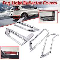 For Nissan Rogue X Trail T32 Facelift Xtrail 2017 2018 Front + Rear Fog Light Lamp Cover Chrome Bumper Reflector Accessories