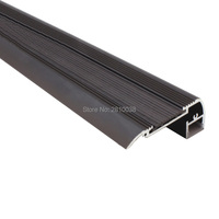 27 X 1.5M Sets/Lot Staircase aluminum profile for led rope light Black finished aluminium led channel for stair step lamps