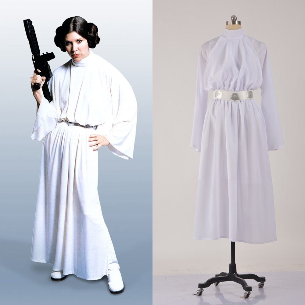 Star Wars Deluxe Princess Leia Cosplay Costume Halloween Outfit
