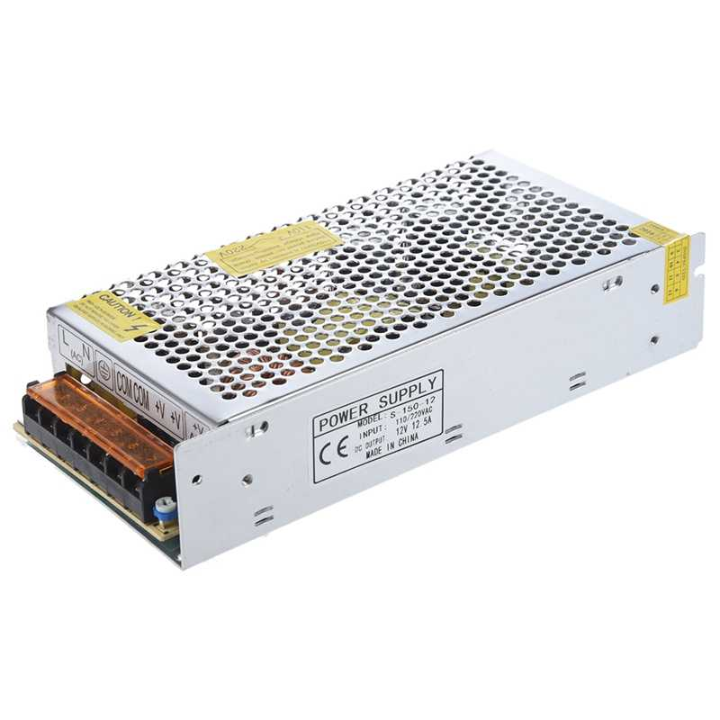 Universal 12V 12.5A 150W Switching Power Supply Driver for LED Strip 110-220V Protections Overload/ over voltage/ short circuit