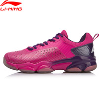 Li Ning Women SONIC BOOM Professional Badminton Shoes Wearable PROBAR LOC Stable LiNing Sport Shoes Sneakers AYZN006 XYY100
