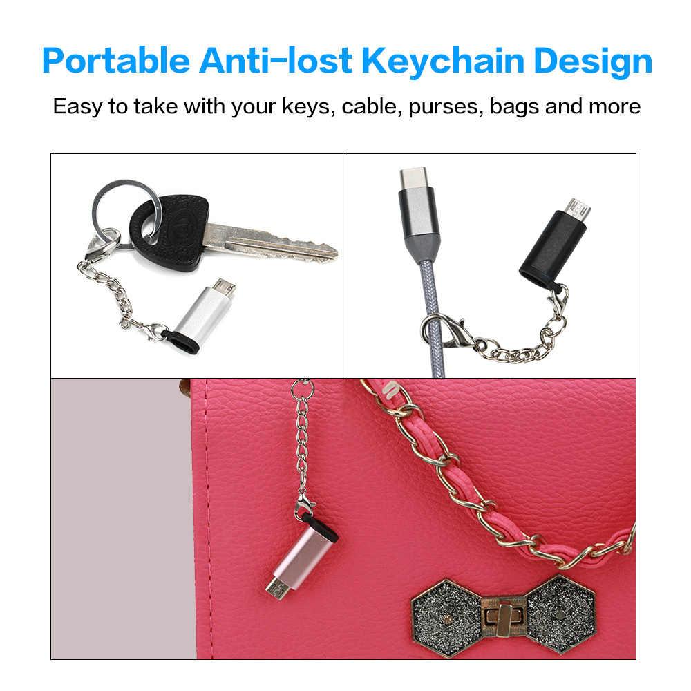ホット AMS-マイクロ USB アダプタータイプ C のコンバーターへのマイクロ Usb オス Otg USB アンドロイド電話錠ゲームパッド
