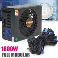 New 1800W Full Module BTC Mining Miner For 6GPU Power Supply Server Mining Machine ATX Power Unit with EMC 24PIN High Efficiency