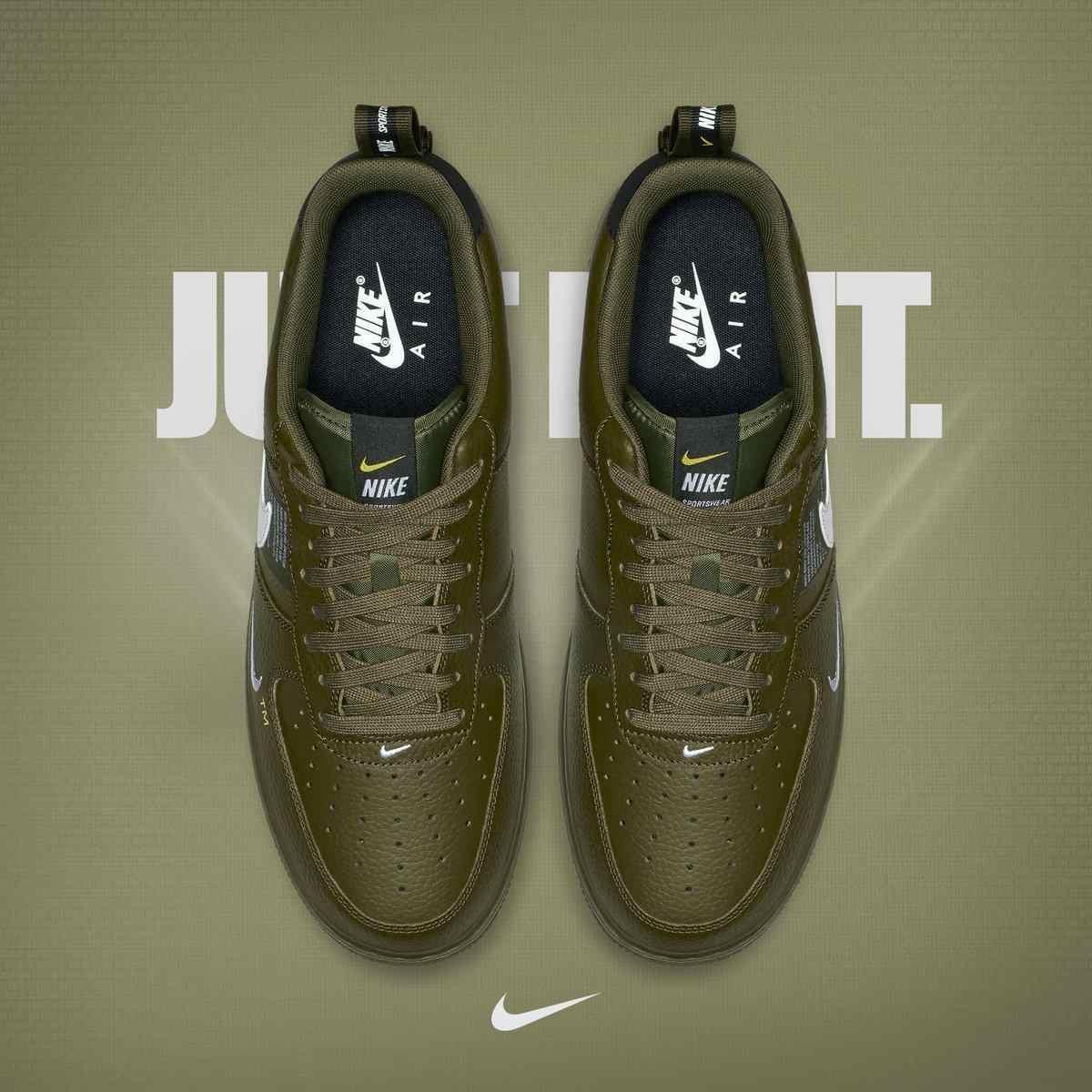 Nike Air Force AF1 Original nouveauté hommes chaussures de skate cuir sport extérieur baskets # AJ7747-300