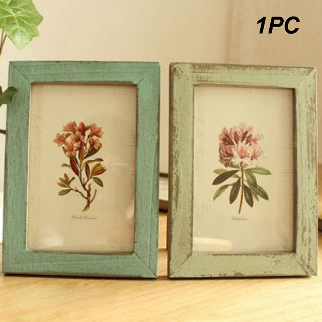 Us 969 Home Decor Vintage Style Unique Design Pictures Frames Wedding Supplies Ornament Wooden Frame Diy Gift Retro Photo Family In Frame From Home