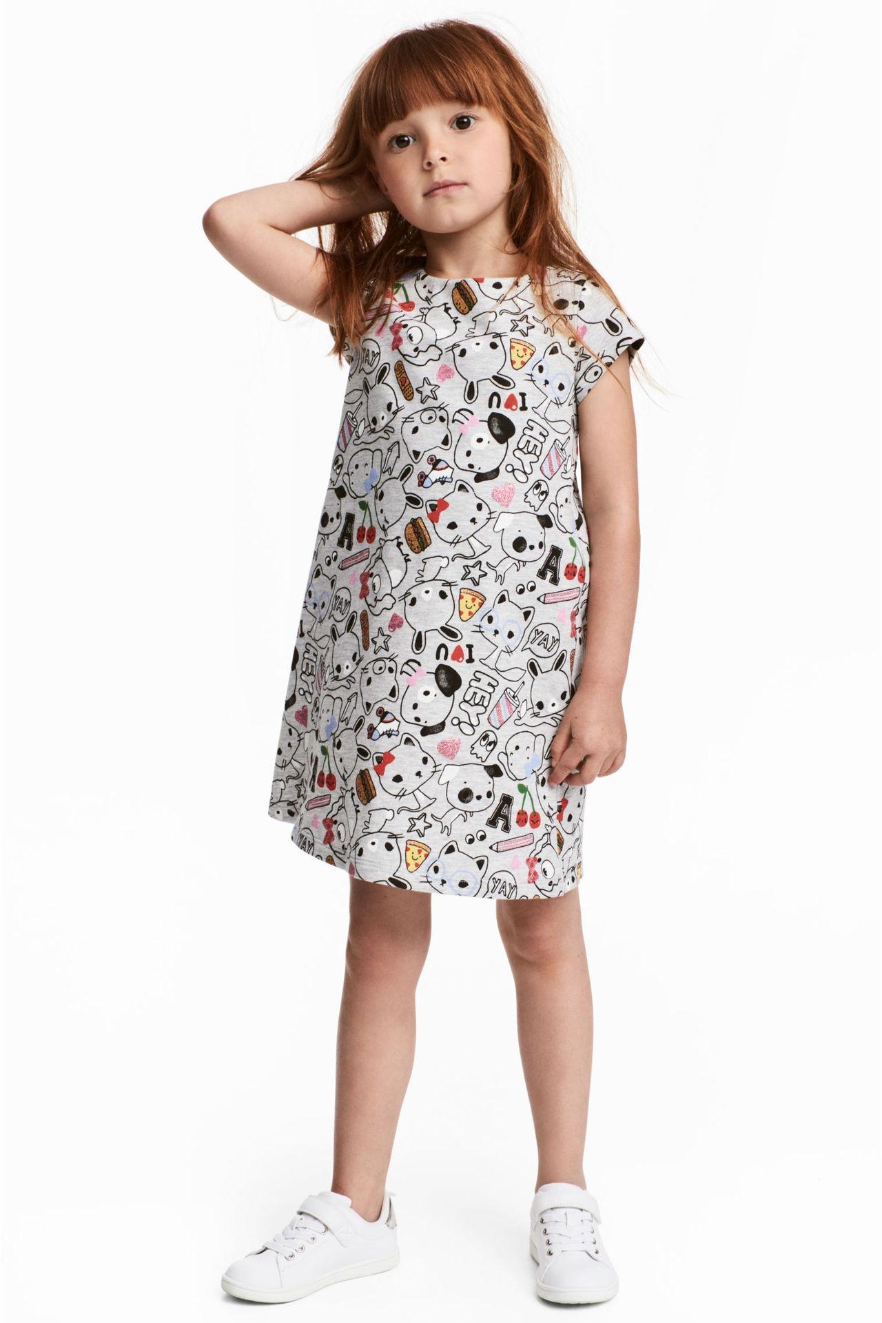 New Toddler Baby Flower Pattern Girls Princess Dress Wedding Party Kids Dress Clode for 2-7 Years Old Girls
