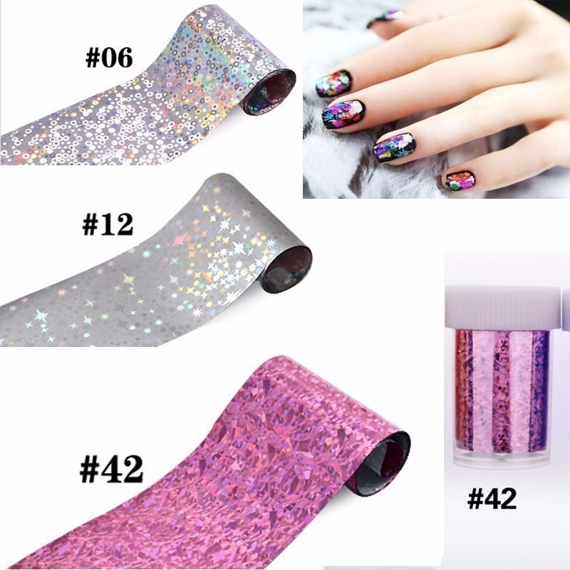 US $0 87 |1Box Glitter Stars Nail Foil Cute Round Dot Nail Design Hot Pink  Lines Decorations Stickers 3d Shiny Manicure Laser Decals Diy-in Stickers &
