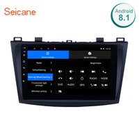 Seicane 9 inch Touch Screen Quad core Android 7.1/8.1 Car Radio Bluetooth GPS Navigation Player for 2009 2010 2011 2012 MAZDA 3