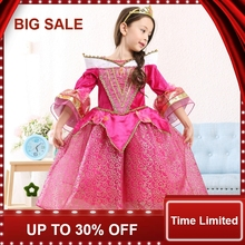 baby princess dress printed the girl long sleeve clothes children birthday party