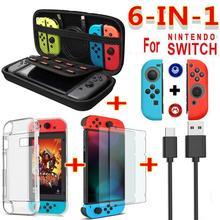6 в 1 Набор аксессуаров для игр EastVita, сумка для переноски и путешествий с переключателем, защитный чехол для экрана, кабель для зарядки r20