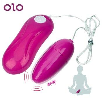 OLO wibrator kulkowy pochwy mocno ćwiczenia skocz jajka stymulator łechtaczki 12 prędkości kobiet masturbacja zabawki erotyczne dla kobiet