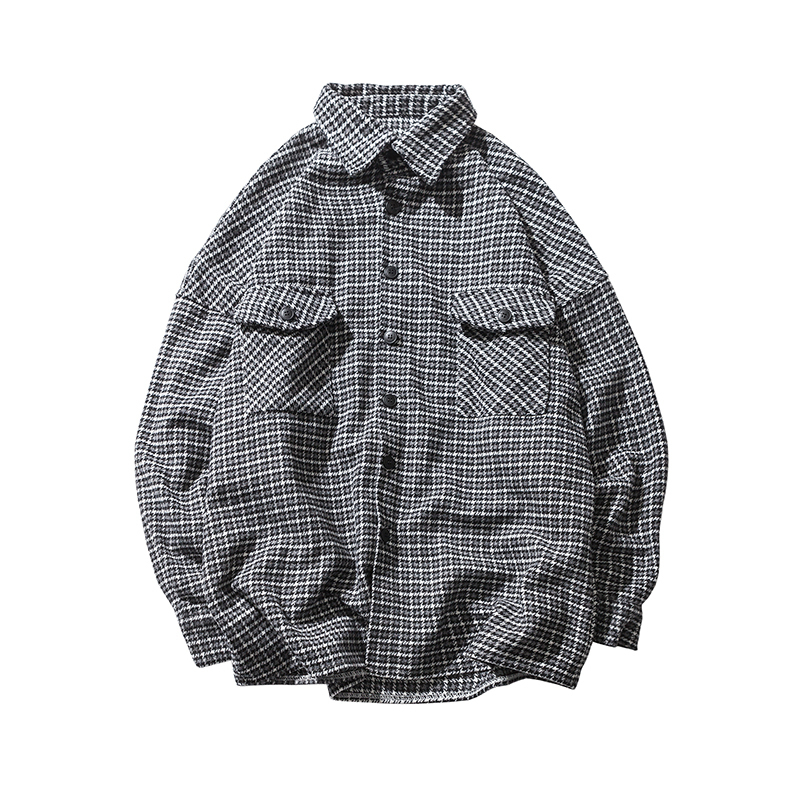 Winter Thickness Clothes Classic Style Coat Plaid Long sleeves men Shirt Loose Brand Fashion Trend streetwear Casual Shirts in Casual Shirts from Men 39 s Clothing