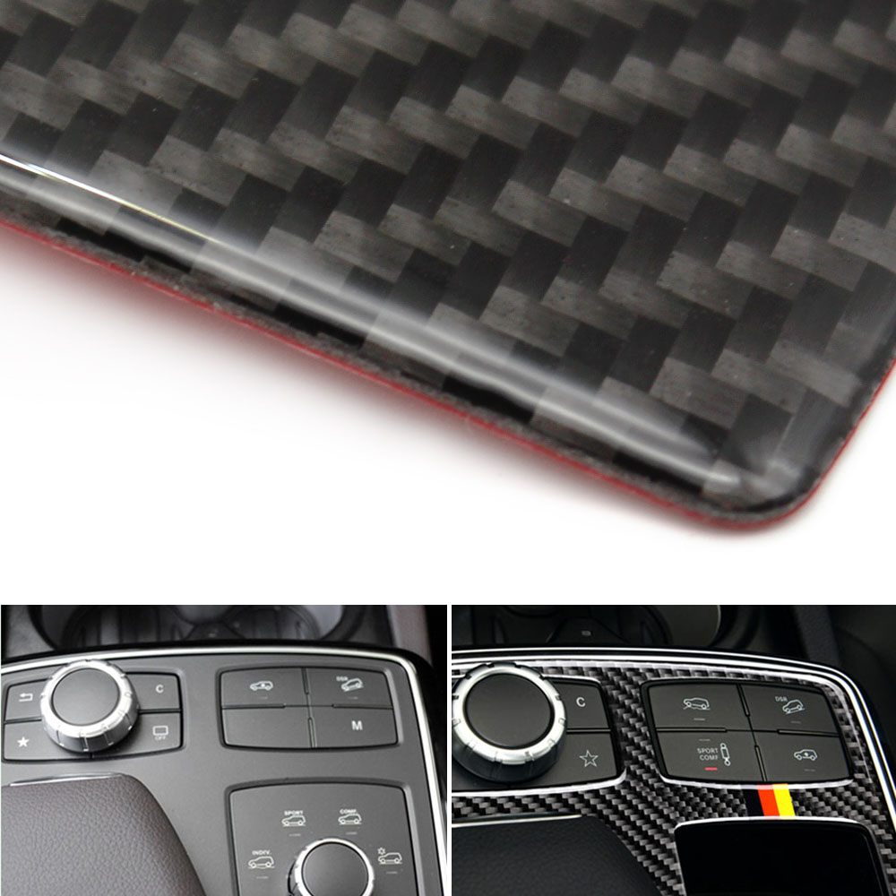 Image 4 - For Mercedes Benz GLE GLS M Class Carbon Fiber Car Center Control Armrest Box Multimedia Panel Cover only LHD-in Interior Mouldings from Automobiles & Motorcycles