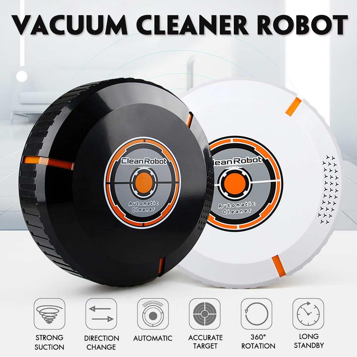 1 Piezas De Robot Barriendo Usb Recargable Vacío Limpiador Eléctrico Inteligente Inalámbrico Aspiradora Robot