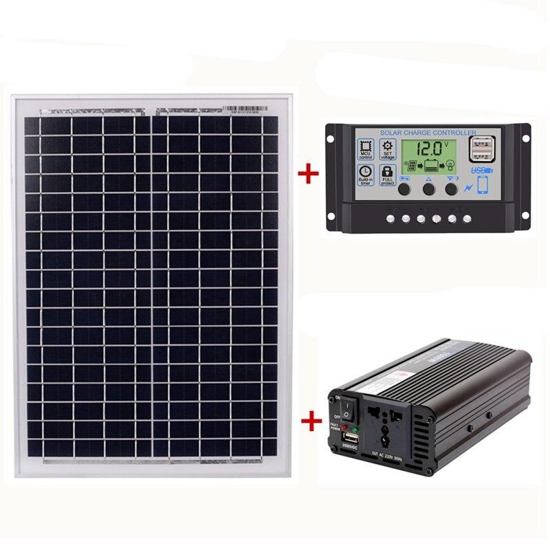 Best 18V20W Solar Panel +12V / 24V Controller + 1500W Inverter Ac220V Kit, Suitable For Outdoor And Home Ac220V Solar Energy-SBest 18V20W Solar Panel +12V / 24V Controller + 1500W Inverter Ac220V Kit, Suitable For Outdoor And Home Ac220V Solar Energy-S