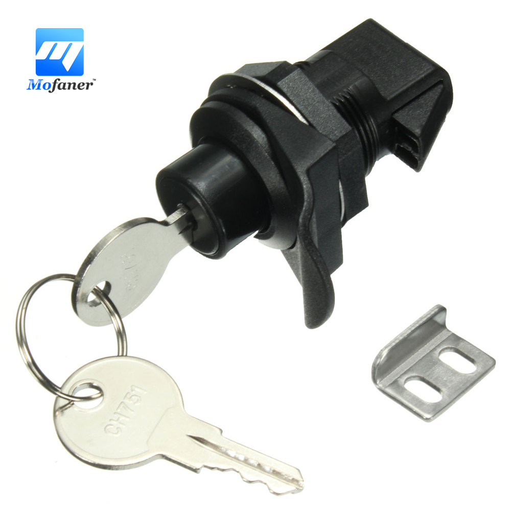 1 Set Push Button Latch Plastic With Key For Motorcycle Boat Glove Box