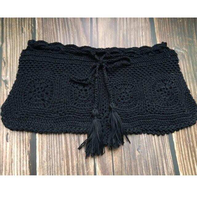 Boho Knit Crochet Beach Shorts 5