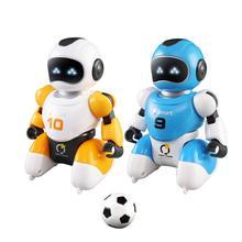 1セットスマートusb充電サッカーロボット玩具歌とダンスシミュレーションrcインテリジェントサッカーロボットおもちゃ