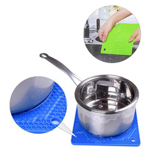 Силиконовые Нескользящие Жаростойкие коврики подстилки подставка для горшка кухонные инструменты