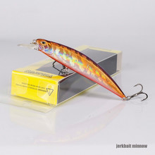 цена 2019 Hot 9.5cm 15g Minnow Artificial Crankbait Wobblers Hard Bait 3D Eyes Fishing Lure Bass Pike Isca Fishing Tacklevis De Pesca онлайн в 2017 году