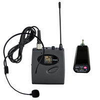 Plug and play uhf single channel 24 frequency optional automatic frequency modulation charging headset wireless microphone