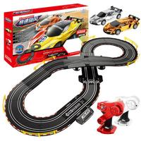 Hand Cranked Circuit Remote Control Track Racing Car Parent Child Interaction 1:43 Racing Track Toy Children's Toy Car