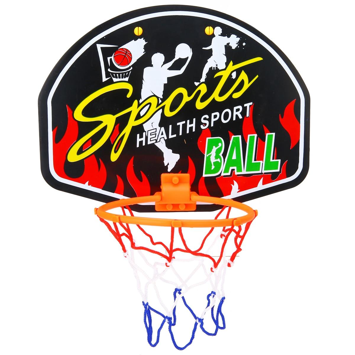 Mini Basketball Backboard Hoop Net Set With Basket Ball For Kids Child Gift Indoor Basketball Sports Game Random Pattern