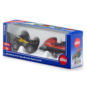 Бесплатная доставка/Siku 2314 игрушка/литая под давлением металлическая модель/1:50 весы/Quad с прицепом и гидроциклом/образовательная Коллекция/подарок/Дети