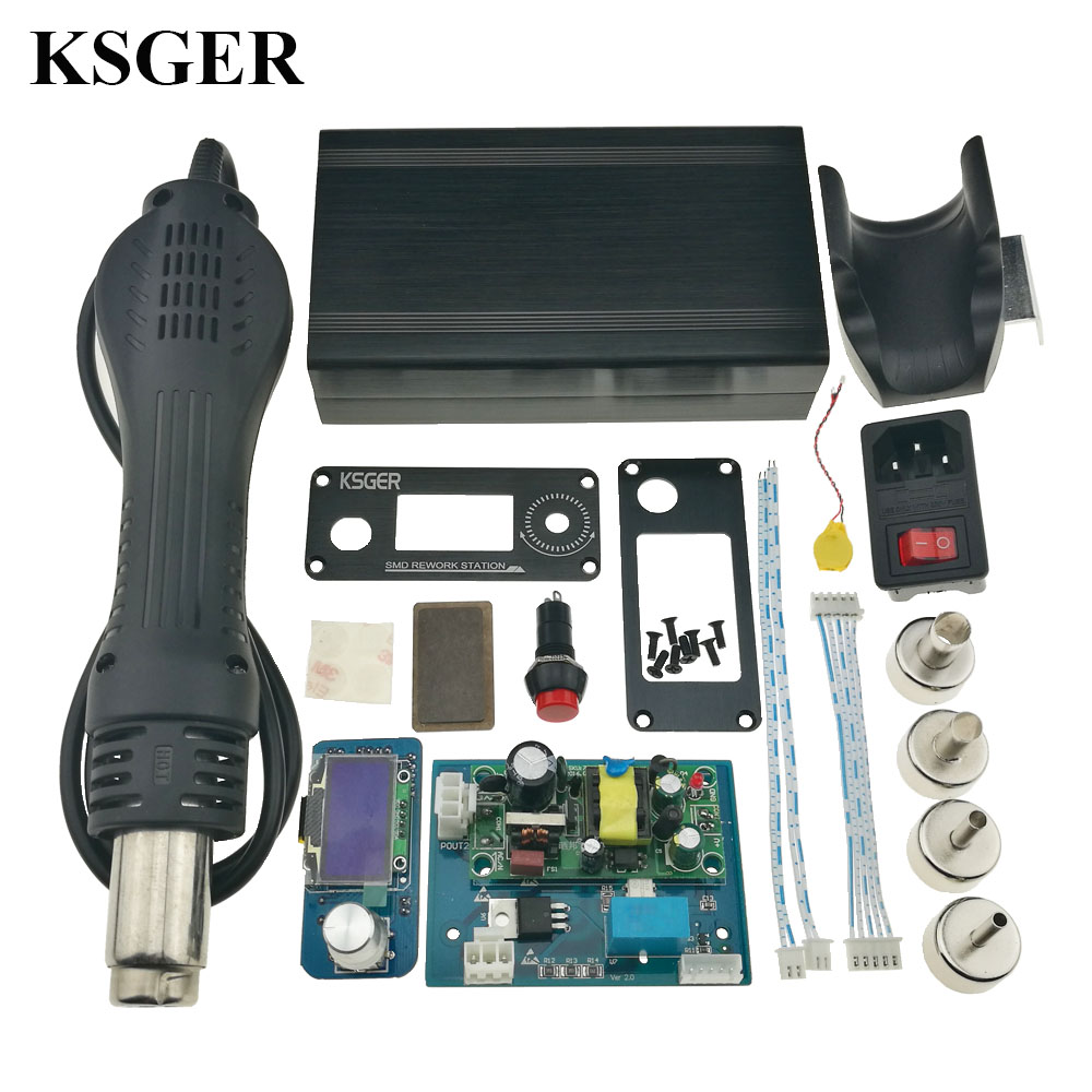 KSGER Hot Air Gun SMD Station Controller DIY Kits Electric Power Tools Dryer Soldering OLED Welding